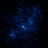 Night sky - Starfield. An illustration of deep space with glowing stars vector illustration