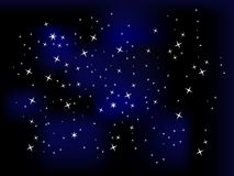 Night sky with stars Royalty Free Stock Images