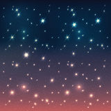 Night sky with stars. Abstract background vector illustration
