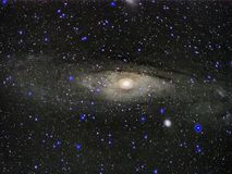 Night sky stars Andromeda constellation Galaxy M31 observing stock photos