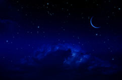 Night Sky with Stars and Clouds Stock Photography