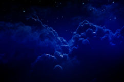 Night Sky with Stars and Clouds Royalty Free Stock Images