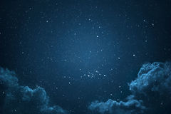 Night sky with stars. Night sky with stars and clouds shot Royalty Free Stock Images
