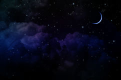 Night Sky with Stars and Clouds Royalty Free Stock Photo