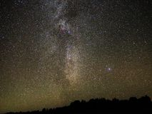 Milky way stars Cygnus and Lyra constellation observing royalty free stock images