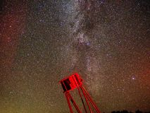 Milky way stars night sky observing DOB Telescope stock image