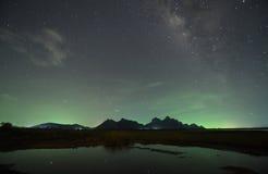 Night sky stars with milky way Stock Photos