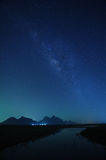 Night sky stars with milky way Royalty Free Stock Images