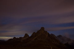 Night sky with stars at mountains Stock Images
