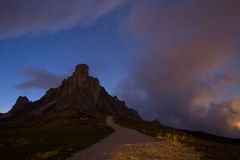 Night sky with stars at mountains Royalty Free Stock Images