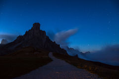Night sky with stars at mountains Stock Photography