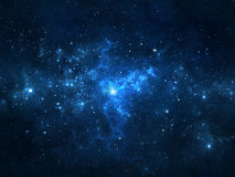 Night sky with stars and nebula Stock Photography