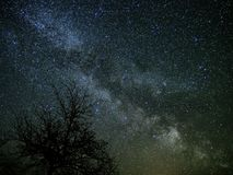 Milky way and Universe stars on night sky Stock Photography