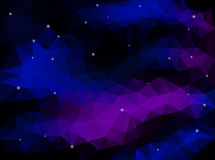 Night Sky with Stars. Polygonal Vector Royalty Free Stock Photos