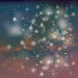 Night sky with stars and snow Stock Photos