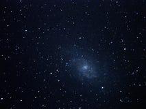 Night sky stars and triangulum galaxy M33 Royalty Free Stock Images
