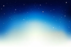 Night Sky With Stars. Vector Stock Image