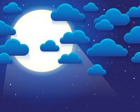 Night sky with stylized clouds theme 1 Royalty Free Stock Photography