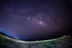 Night sky view with stars and milky way stock photography