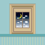 Night Sky View Through The Window Stock Image