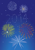 2014 firework royalty free stock photography