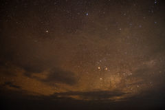 Night sky in Zanzibar Island Royalty Free Stock Image