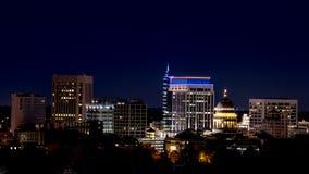 Night skyline of Boise Idaho Stock Images