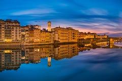 Night skyline of Florence, Italy Royalty Free Stock Photo