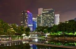 Night skyline of Kuala Lumpur Stock Image