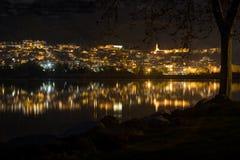 Night skyline stock photography