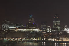 Night skyline of london. Skyline of london Royalty Free Stock Image
