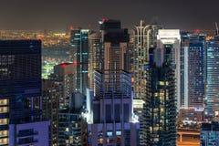 Night skyline of modern city Stock Photography
