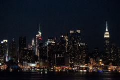 Night Skyline 2014 Royalty Free Stock Photo