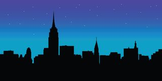 Night skyline New York vector