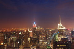 Night skyline of NYC Stock Image