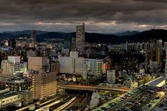 Night skyline over Hiroshima Japan Royalty Free Stock Photo