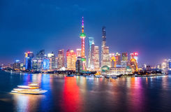 Night skyline shanghai Royalty Free Stock Images