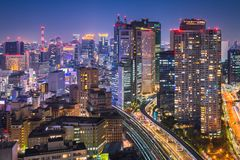 Night skyline of Tokyo, Japan Stock Photos