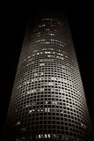 Night skyscraper. Azrieli skyscraper in Tel Aviv Royalty Free Stock Image