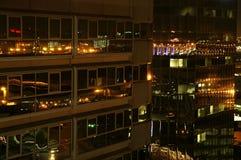 Night Skyscrapers Stock Photo
