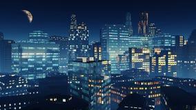 Night skyscrapers Stock Image