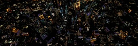 Night skyscrapers Royalty Free Stock Photography