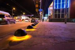 Parking spherical blocker with illumination. stock photos