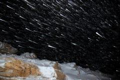 Night snowfall Stock Photography