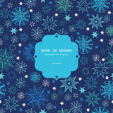 Night snowflakes frame seamless pattern background Stock Photos