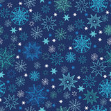 Night snowflakes seamless pattern background Stock Images