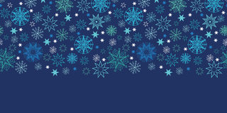 Night snowflakes seamless pattern background Stock Image