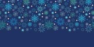Night snowflakes seamless pattern background stock image