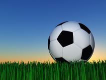 Night Soccer Stock Image