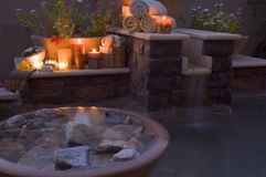Night Spa Royalty Free Stock Images
